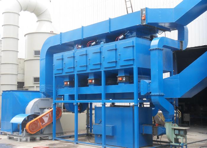 有机废气处理设备催化燃烧工艺的流程