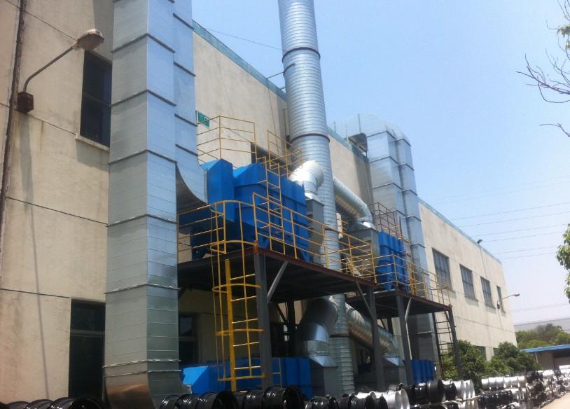 低温等离子体光催化降解印刷废气的过程