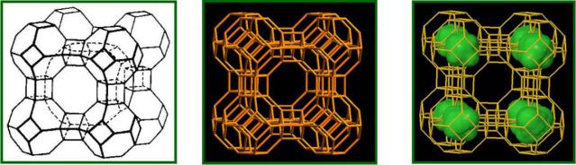 沸石分子结构
