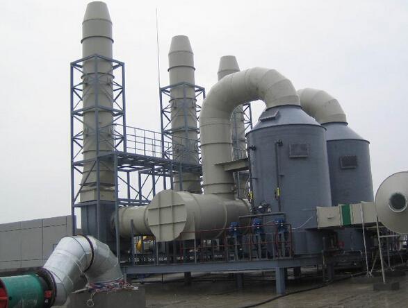 工业废气处理中最常用到喷淋塔进行废气处理的是喷涂废气