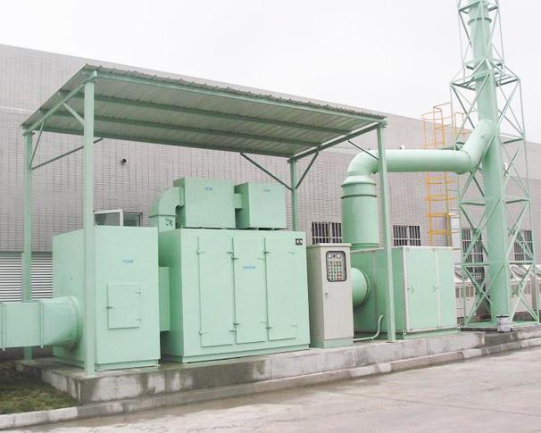 装置喷漆废气处理设备的流程