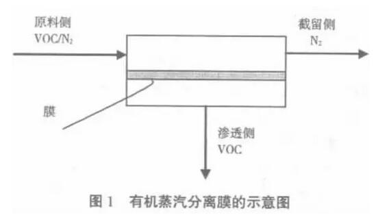 有机蒸汽分离膜的示意图